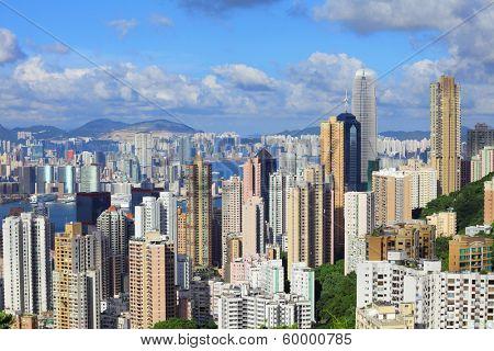 Hong Kong city from peak