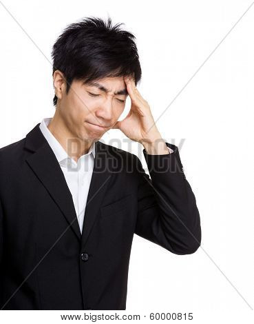 Asia businessman headache