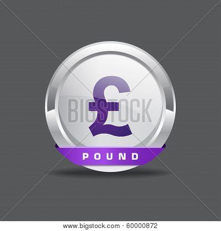 Pound Sign Round Vector Button Icon