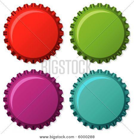 Colorized Bottle Caps