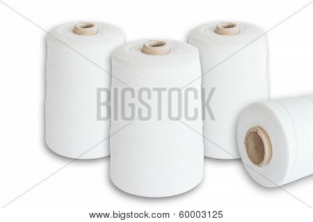Sewing Thread Spools, Natural Fiber