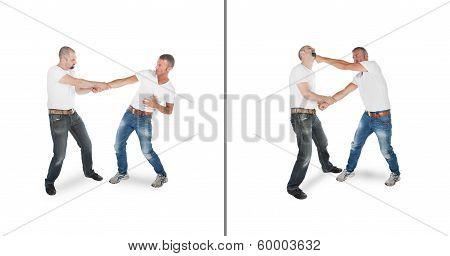 Man Defending Against Wrist grab