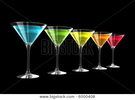 3D Cocktail Glasses