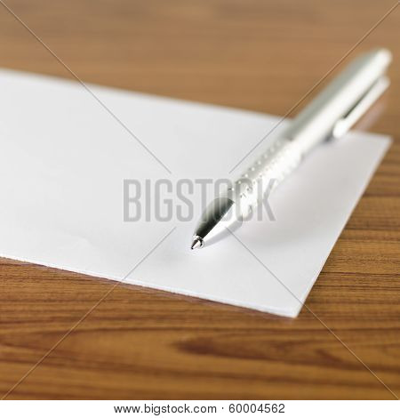 Pen With White Paper