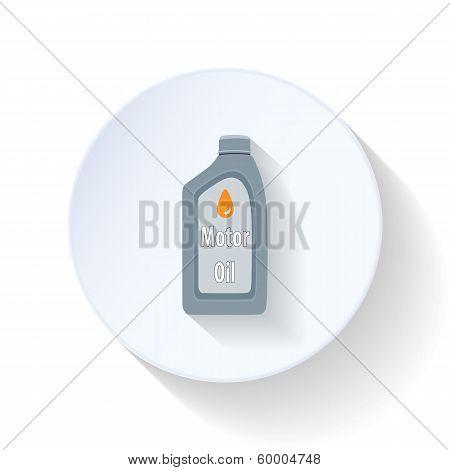 Engine oil flat icon