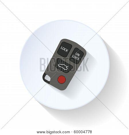 Auto alarm flat icon