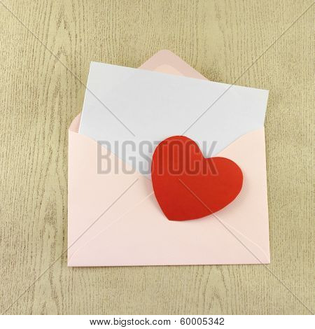 Red Heart With Pink Envelope
