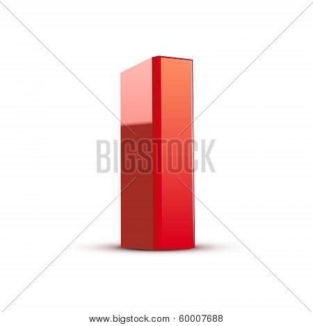3D Red Letter I