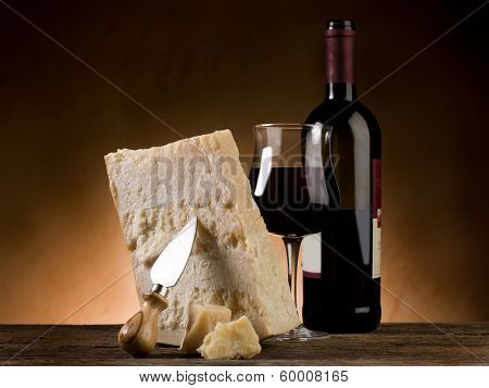 parmesan cheese and red wine
