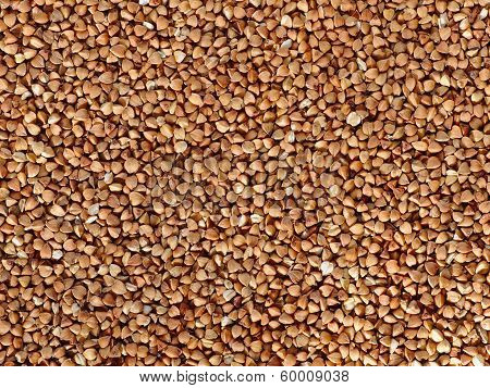 Buckwheat Seeds Flat Food Background