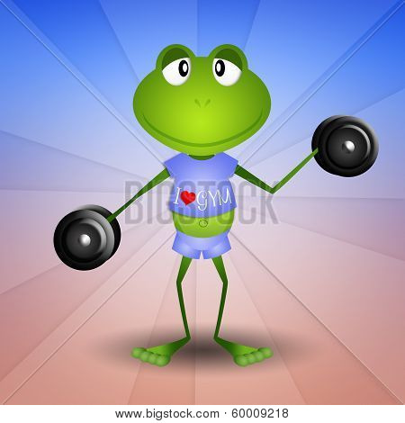 Frog weightlifting