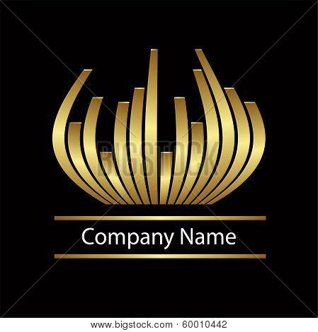 Abstract vector gold logo