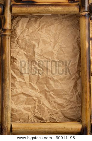 photo frame at wrinkled paper