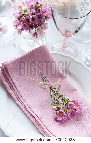 Festive Wedding Table Setting