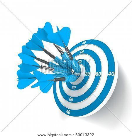 Target. Success concept. 3d illustration