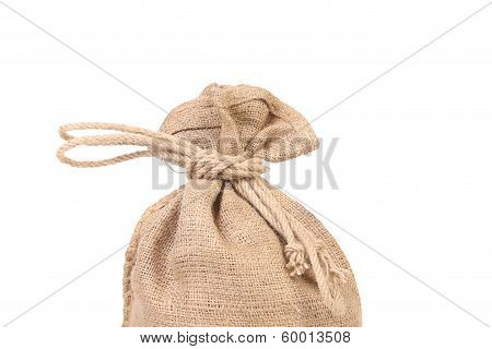 Bag with money.
