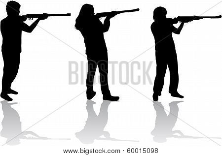 Men And Women With Guns