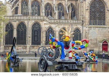 Stravinsky Fountain - Paris, France.