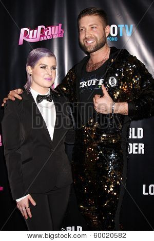 LOS ANGELES - FEB 17:  Kelly Osbourne, Johnny Scruff at the