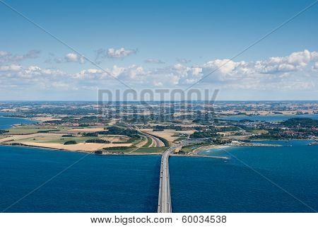 An Aerial View Of Sealand, Denmark