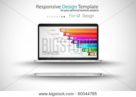 Modern devices mockups fpr your business projects. webtemplates included.