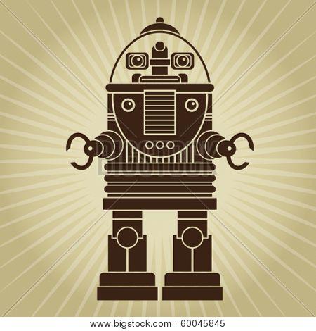 Retro Vintage Robot Character