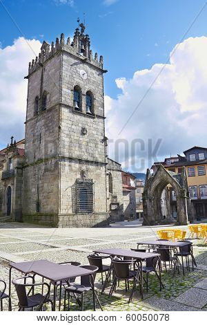 Monument And Church Of Nossa Senhora Da Oliveira In The Centre Of Guimares (oliveira Square)