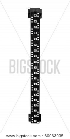 Black Sounding Rod For Tide Level Measurement Isolated On White