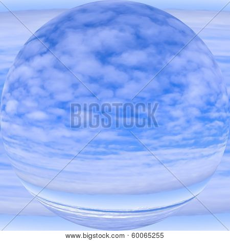 New planet and atmosphere, allegoric depiction of the sky