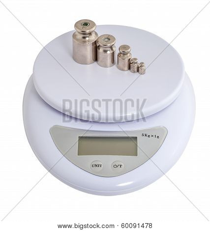 electronic scales with weights