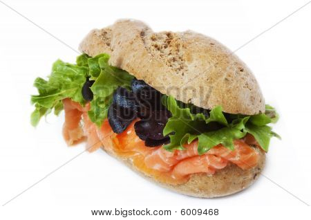 Healthy Smoked Salmon Multi Grain Sandwich With Cream Cheese
