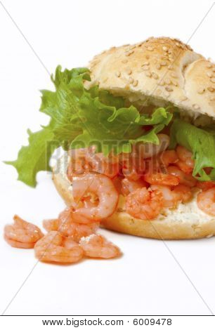 Healthy Shrimp Sandwich With Cream Cheese