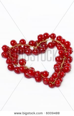 Heart Shape Made Of Cranberries