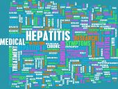 Hepatitis Medical Concept as an Infection Art poster