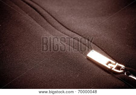 Zipper on fabric
