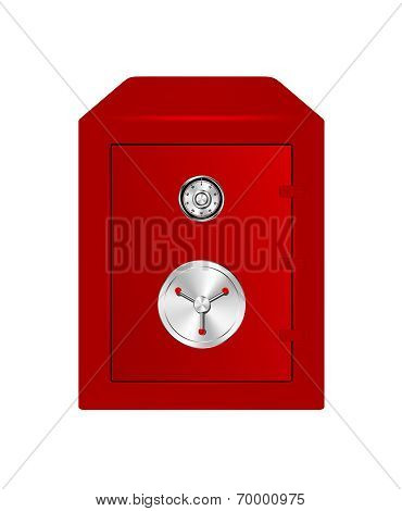 Bank Safe in red design