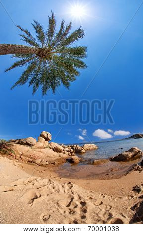 Costa Smeralda with amazing beach in Capriccioli, Sardinia