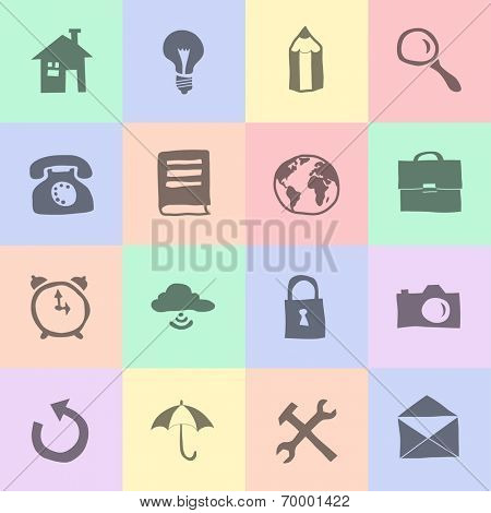 hand drawn flat icons