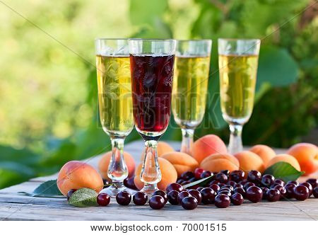 Sweet Wine And Fruits