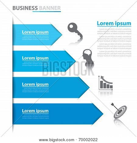 Business Arrow Banner Infographics