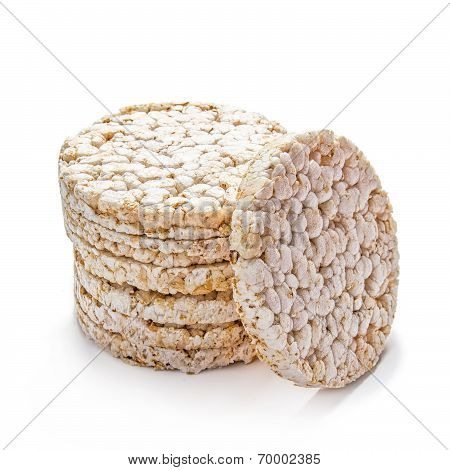 Rice Cracker On White