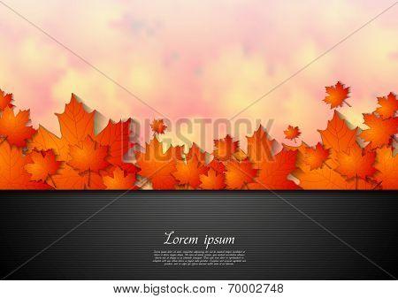Bright corporate autumn background. Vector design