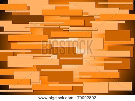 Abstract orange tech geometry backdrop