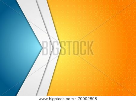 Abstract corporate arrows tech vector background