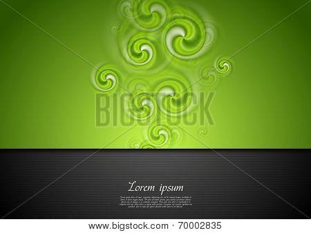 Bright modern swirl vector art background