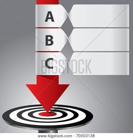 Target Arrow Banner Infographic