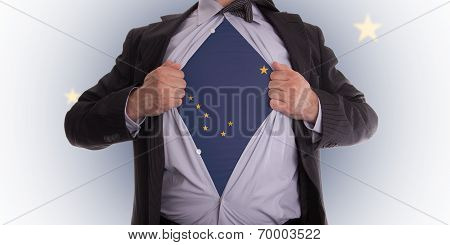 Businessman With Alaska Flag T-shirt