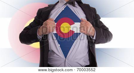 Businessman With Colorado Flag T-shirt