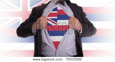 Businessman With Hawaii Flag T-shirt
