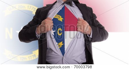 Businessman With North Carolina Flag T-shirt